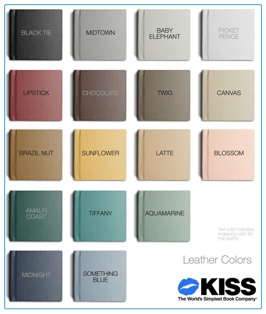 Leather Album Colors